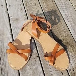 Madewell strappy boardwalk sandals